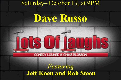 Dave Russo at Lots of Laughs Comedy Club