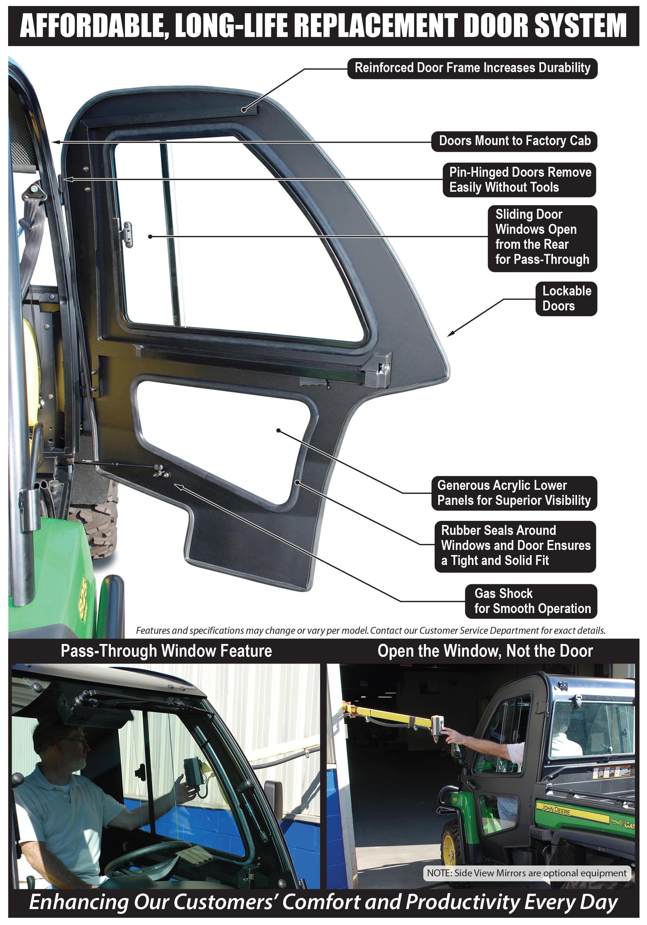 & Doors for Gator XUV Factory Cab Pezcame.Com