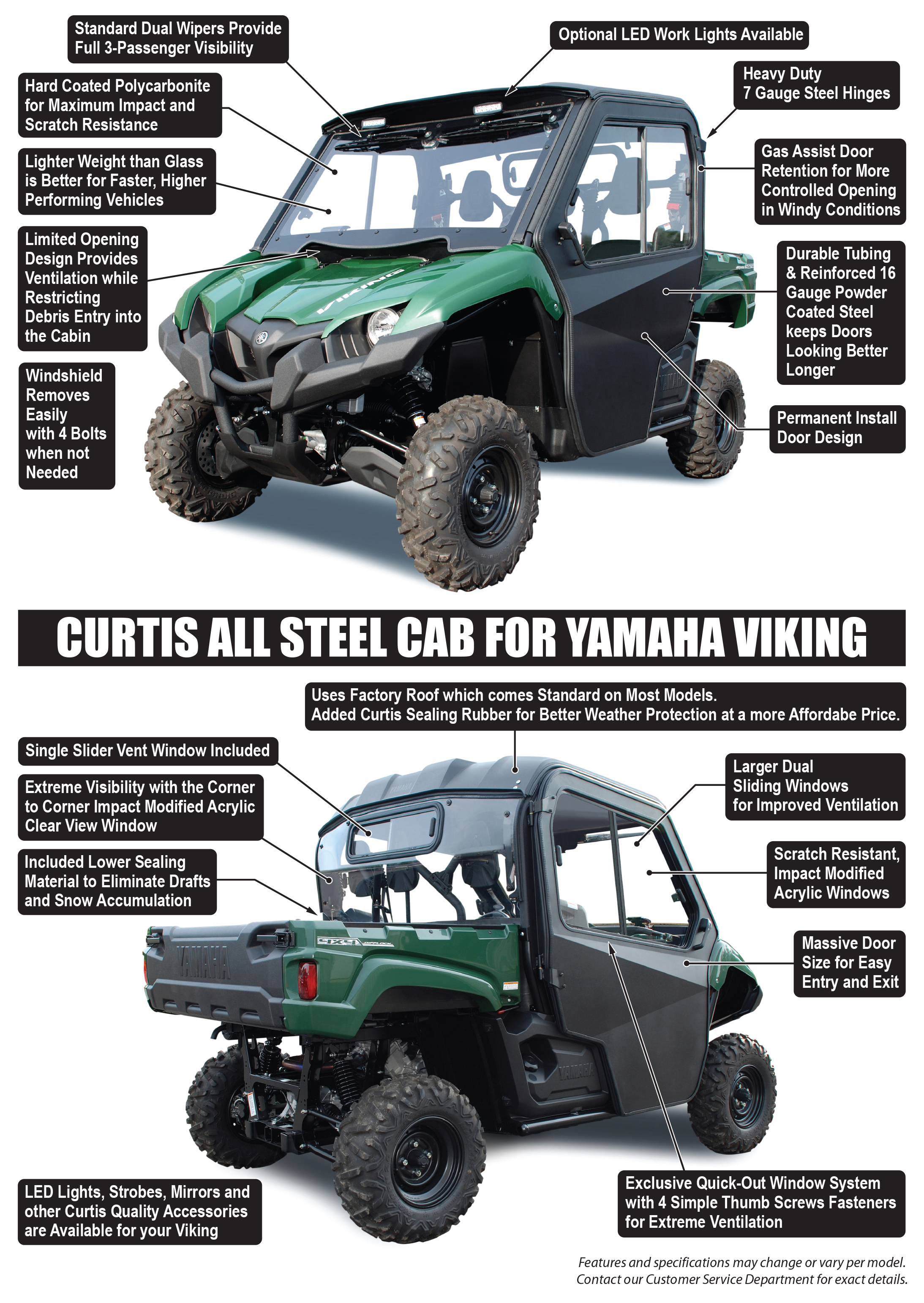 Yamaha Viking Cab