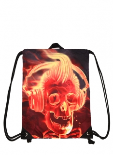 Big Face Flame DJ Sling Bag