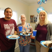 Staff at Woodland Road enjoy an appreciation lunch on June 8, 2017.