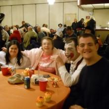 Sheila Hernandez, Kristina Smith, Ned Bjorkman & John Shread enjoy the Halloween dance.