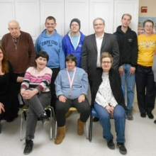 State Representative Tom Stanley attended the Watch City Self Advocates meeting in March 2015 to talk about his work at the State House.