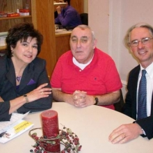 Roz Rubin and GWArc participant, Joe O'Connell, met with Representative Jonathan Hecht in his office at the Massachusetts State House recently to discuss the