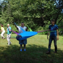 Participants enjoy fun and games at the EPT summer picnic at Lake Cochituate