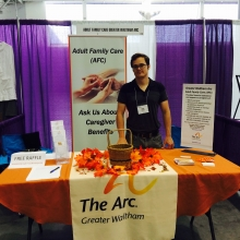 Axel Osio promotes the AFC Program at the 2015 Abilities Expo in Boston