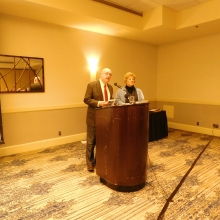 John Peacock and Marcia MacClary, Co-Presidents of GWArc's Board of Directors, open the meeting.