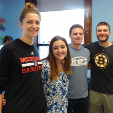 Bentley Service-Learning student-volunteers bid farewell until the Fall.