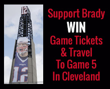 Win a Trip to Cleveland and Tickets to Brady's First Game Back
