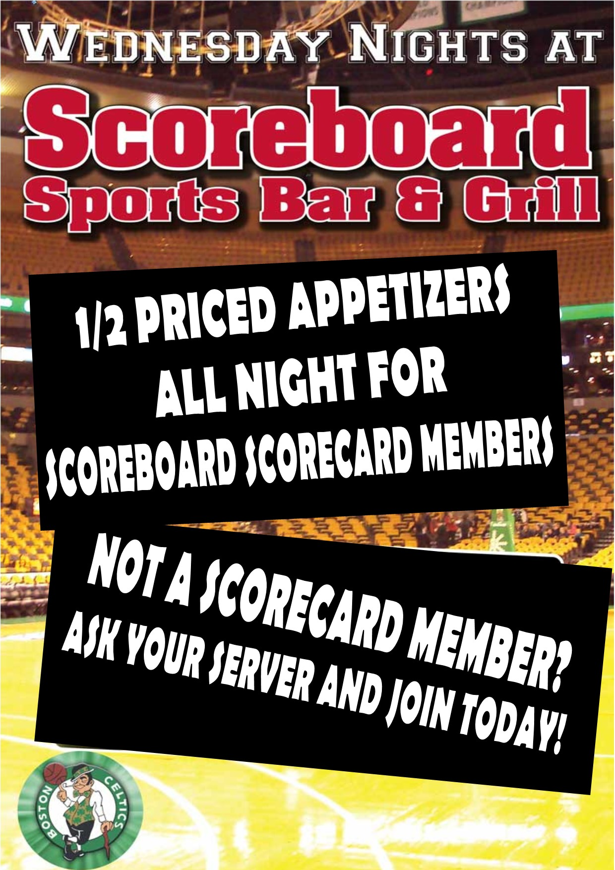 Scoreboard Sports Bar and Grill Woburn MA Boston MA After Work Special