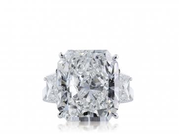 11.29 ct GIA F/VS1 Radiant Cut Diamond 3 Stone