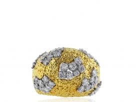 18 kt Diamond Estate Dome Ring