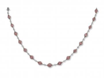 Platinum 5.80ct Argyle Fancy Intense Pink Diamond Necklace (Ballerina Necklace)